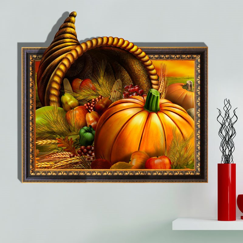 Wonderful Harvest Vegetables Pattern 3D Wall Sticker