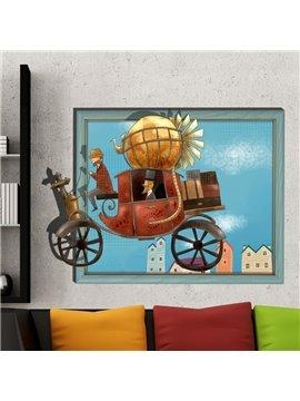 Amazing Popular Retro Carriage 3D Wall Sticker