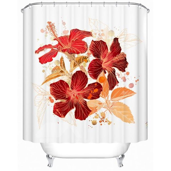 Magnificent Graceful Jacquard 100% Woven Polyester Shower Curtain