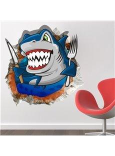 Top Quality Eating Shark 3D Wall Sticker
