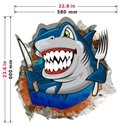 Top Quality Eating Shark 3D Wall Sticker