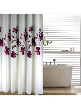 Romantic Graceful Purple Orchid Printing 3D Shower Curtain
