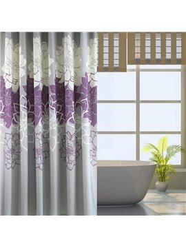 Romantic Noble Purple Peony Jacquard Shower Curtain