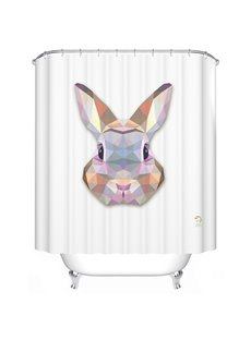 Adorable Fancy 3D Prismatic Bunny Shower Curtain