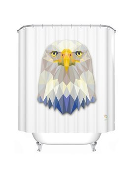 Intrepid Vibrant 3D Prismatic Eagle Shower Curtain