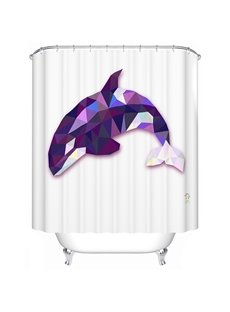 Cool 3D Prismatic Killer Whale Shower Curtain