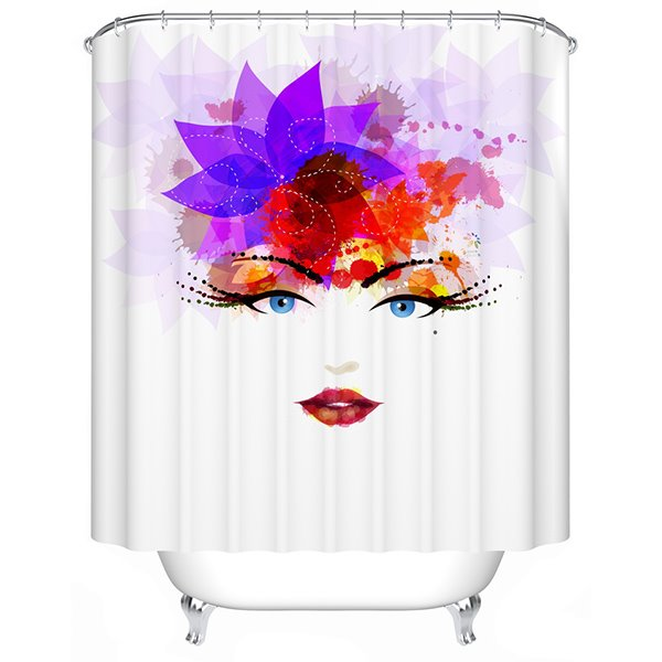 Aesthetic Gorgeous Fashion Girl Polyester Shower Curtain