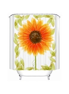 Lightful Gorgeous Sunflower Print Polyester Shower Curtain