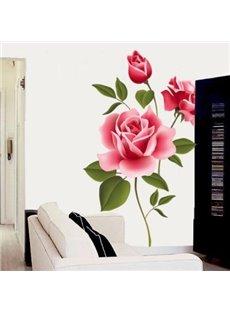 Pretty Simple Style Romantic Rose Pattern Wall Sticker
