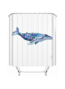 Fierce Special 3D Prismatic Whale Shower Curtain