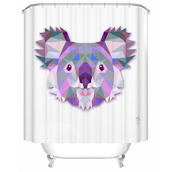 Lovely Lifelike  3D Prismatic Koala Shower Curtain
