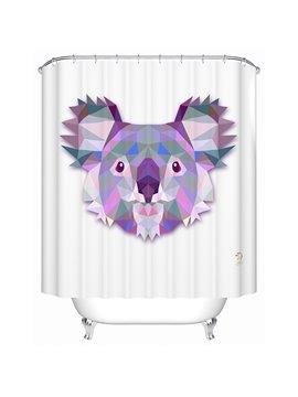 Lovely Lifelike  3D Prismatic Koala Shower Curtain