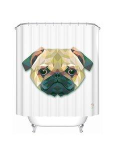 Allegiant Vivid  3D Prismatic Friendly Dog Shower Curtain