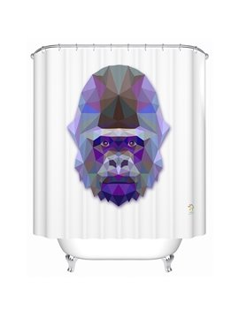 Chic 3D Prismatic Orangutan Print Shower Curtain