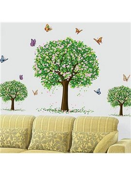 Top Classic Wonderful Pretty FlowersTree Wall Stickers