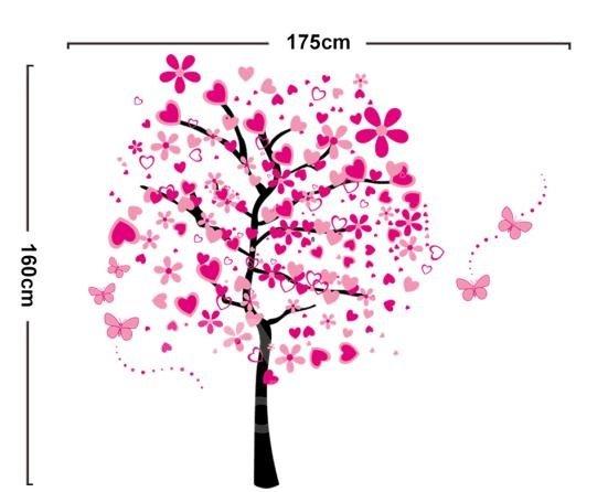 Pretty Sweet Love Tree Pattern Wall Stickers