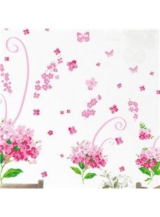Wonderful Pretty Classic Romantic Bouquet Wall Stickers