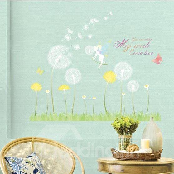 The Beautiful Wood Elves Dandelion Wall Stickers