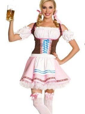 Cute And Professional Beer Festival Waitress Costume