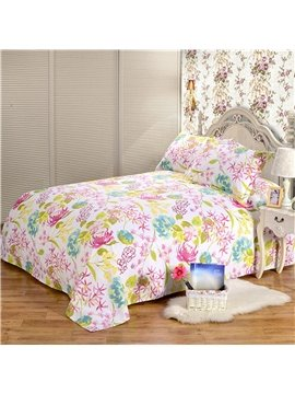 Excellent Comfortable and Soft Cotton Printed Sheet With Beautiful Flowers
