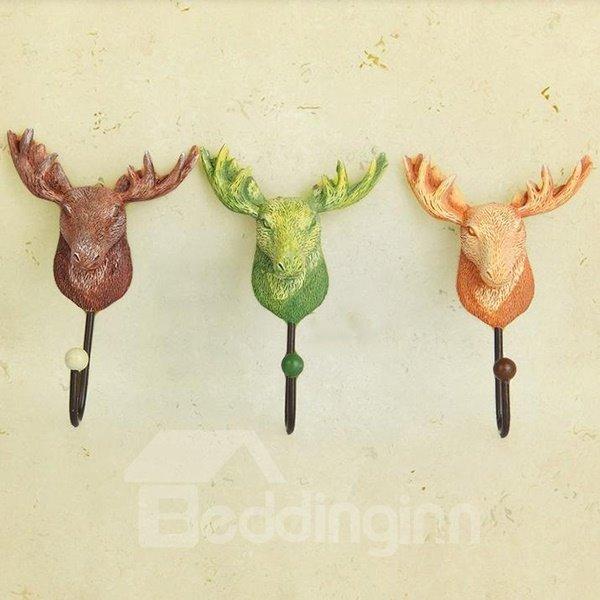 European Rural Deer Shape 3-piece Resin Hooks
