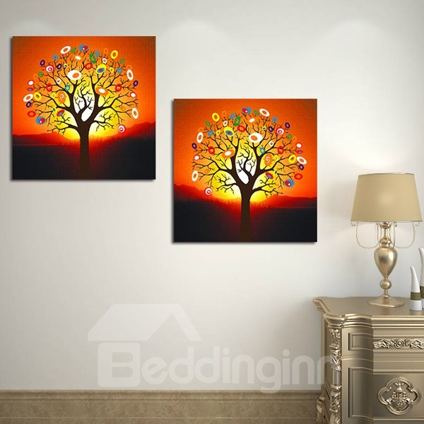 Fantastic Modern Trees 2-Piece Crystal Film Art Wall Print