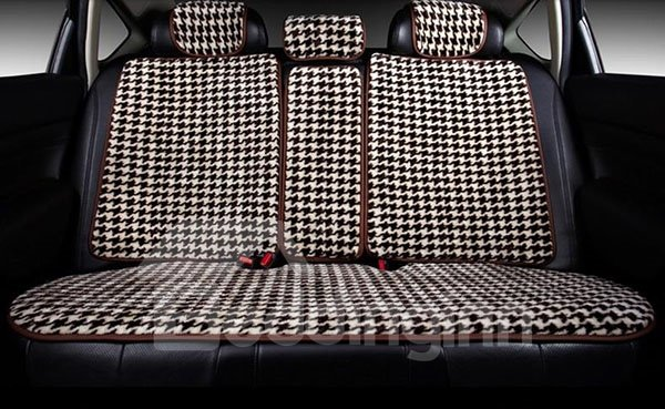 Classic Simple Grid Designed Comfortable Car Seat Cover