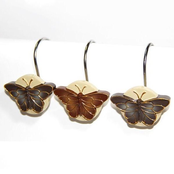 Retro European Romantic Butterfly Shower Curtain Hooks