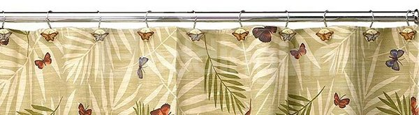 Retro European Romantic Butterfly 12-piece Shower Curtain Hooks