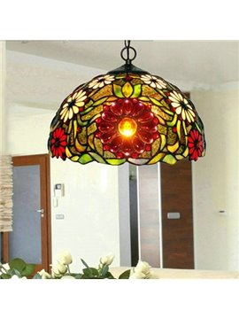 Wonderful Art Tiffany Decorative Sunflower Pattern Pendant Lights