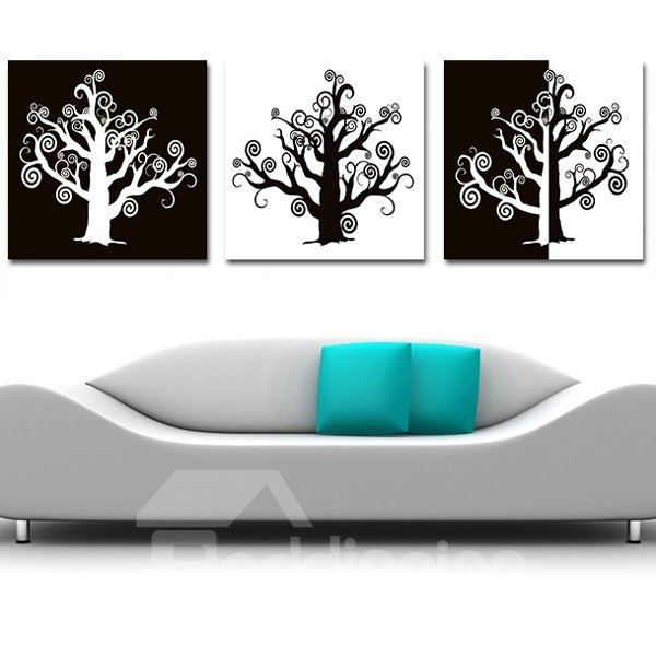 Wonderful Singular Trees 3-Piece Crystal Film Art Wall Print