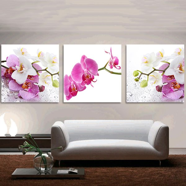 Pretty Moth Orchid 3-Piece Crystal Film Art Wall Print