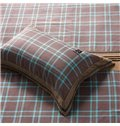 Charming Plaid Pattern 4-Piece Cotton Duvet Cover Sets