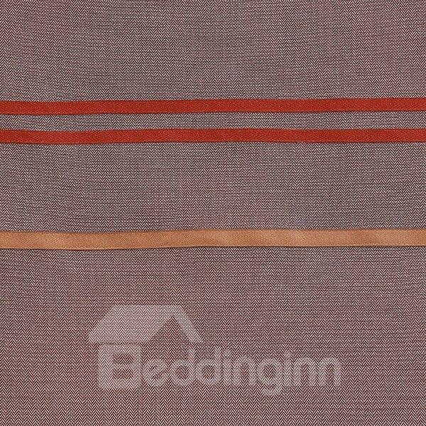 Zig Zag Pattern 6-Piece Cotton Duvet Cover Sets