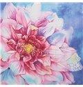 Wonderful Flower Print 4-Piece 100% Cotton Duvet Cover Sets