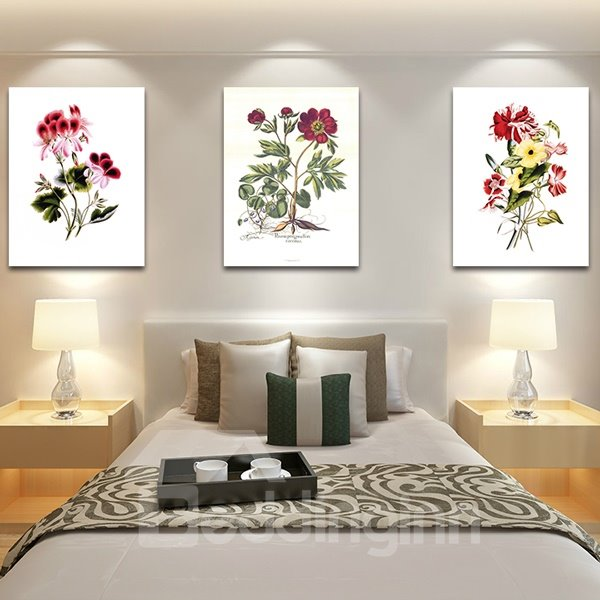Graceful Plant Flowers 3-Piece Crystal Film Art Wall Print