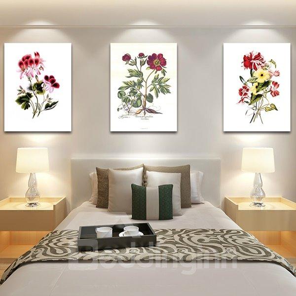 Graceful Plant Flowers 3-Piece Crystal Film Art Wall Print