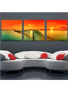 Beautiful Sunset 3-Piece Crystal Film Art Wall Print
