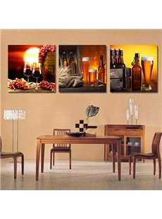 Wonderful Wine Glasses 3-Piece Crystal Film Art Wall Print