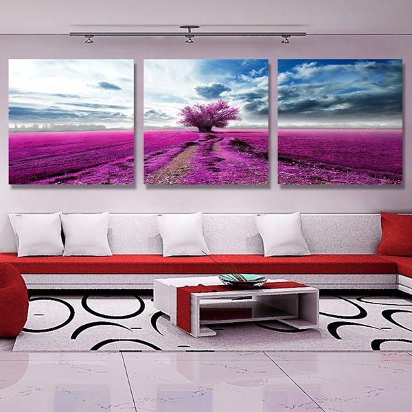 Beauty Scenery 3-Piece Crystal Film Art Wall Print