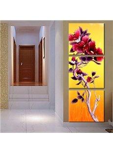 Beautiful Strange Flower 3-Piece Crystal Film Art Wall Print