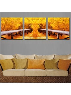 Pretty Autumn Sense 3-Piece Crystal Film Art Wall Print