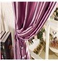 Classical Luxury Purple Blackout Grommet Top Curtain