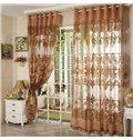 Classic Luxury Exquisite Flowers Pattern Custom Sheer Curtain