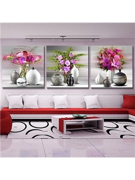 Loving Flowers 3-Piece Crystal Film Art Wall Print
