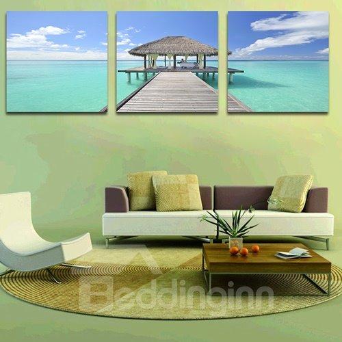 Beautiful Sea 3-Piece Crystal Film Art Wall Print