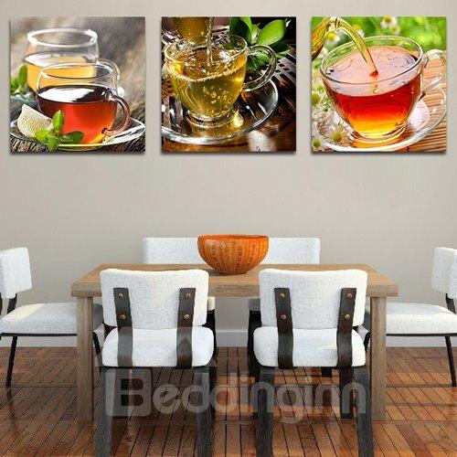 Peaceful Afternoon Tea 3-Piece Crystal Film Art Wall Print