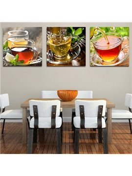 Peaceful Afternoon Tea 3-Piece Crystal Film Art Wall Print