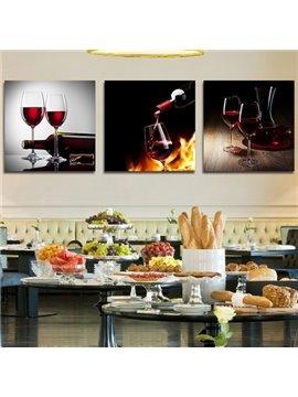 Taste of Red Wine 3-Piece Crystal Film Art Wall Print
