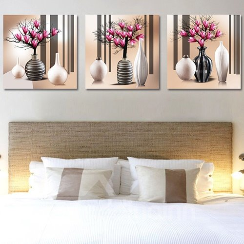 Flower Tree in the Vase 3-Piece Crystal Film Art Wall Print